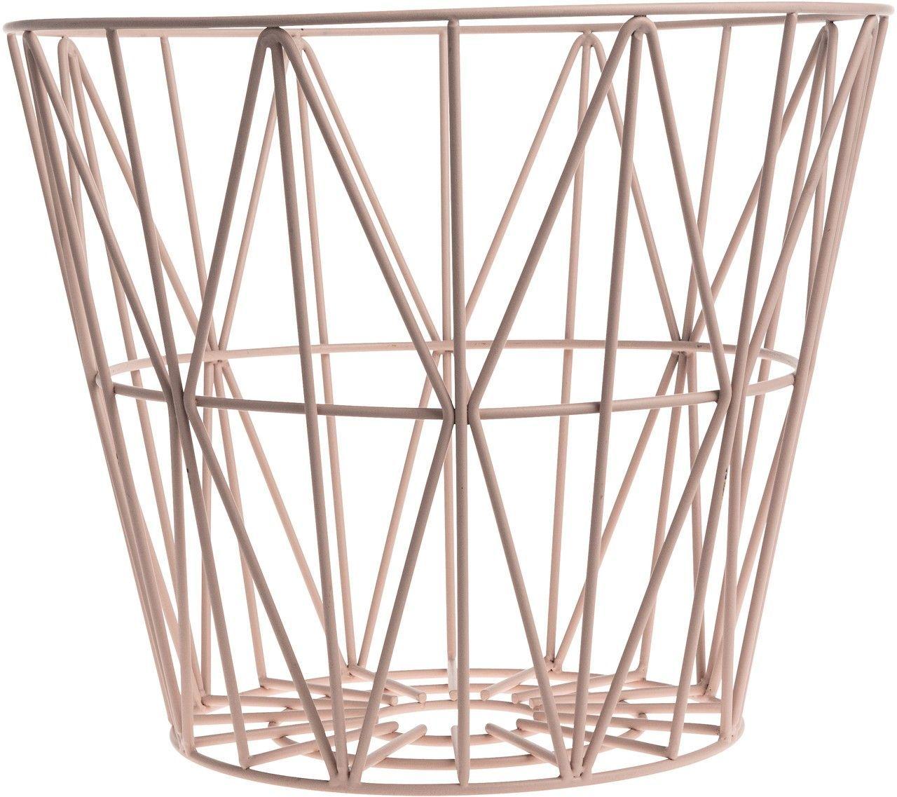 wire basket rose ferm living kleine fabriek. Black Bedroom Furniture Sets. Home Design Ideas