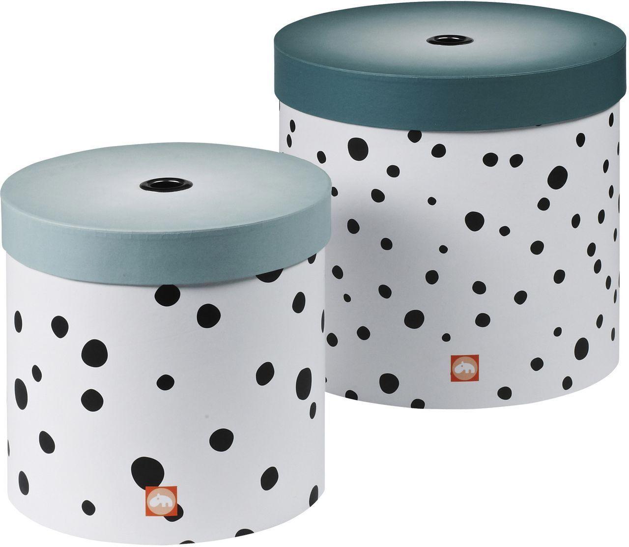 krims krams boxen set happy dots blau done by deer. Black Bedroom Furniture Sets. Home Design Ideas