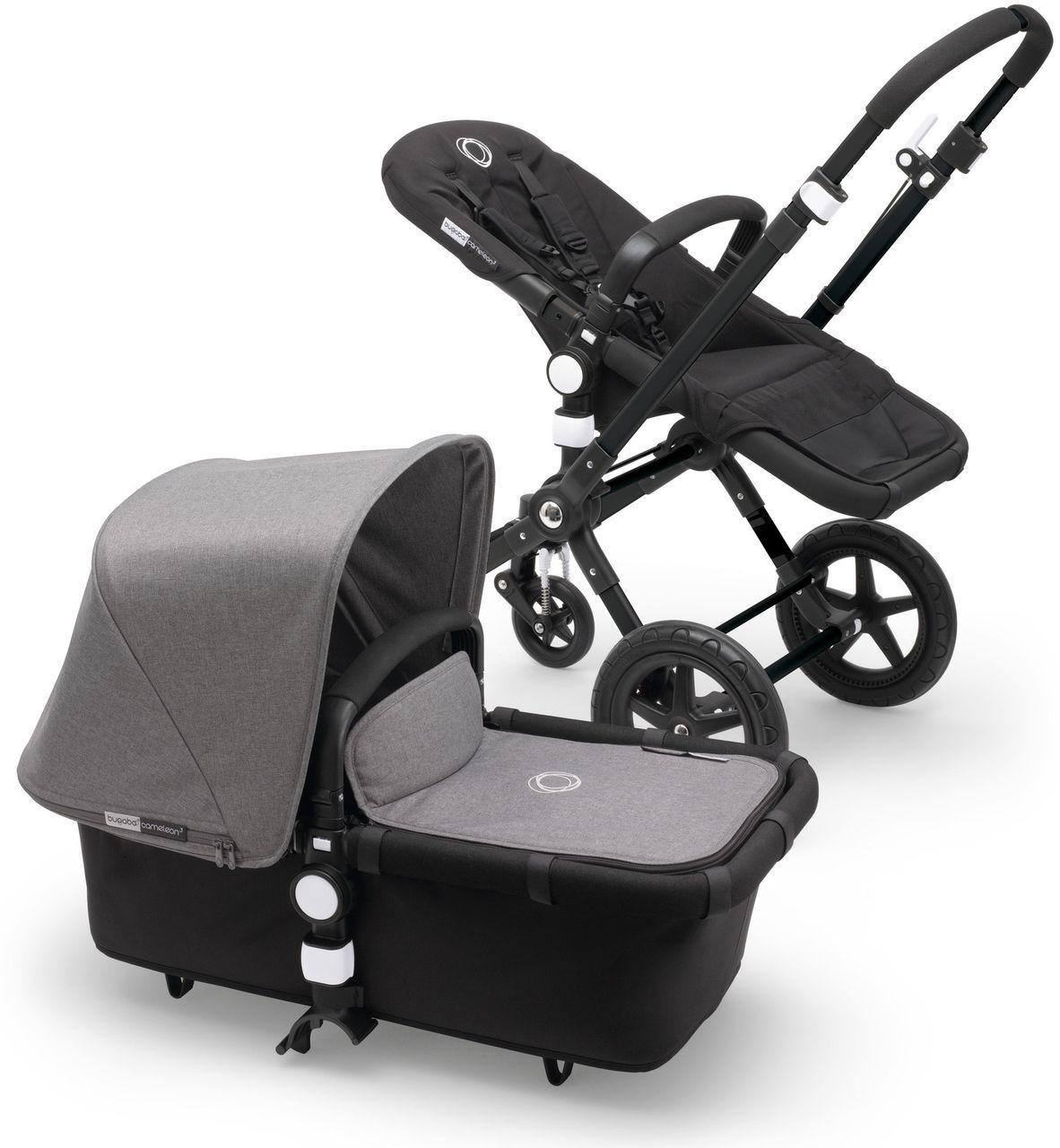 bugaboo cameleon 3 kinderwagen schwarz grey melange. Black Bedroom Furniture Sets. Home Design Ideas