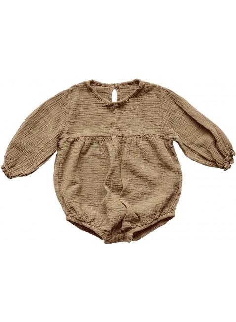 The Simple Folk Baby-Romper Musselin Meadow Camel