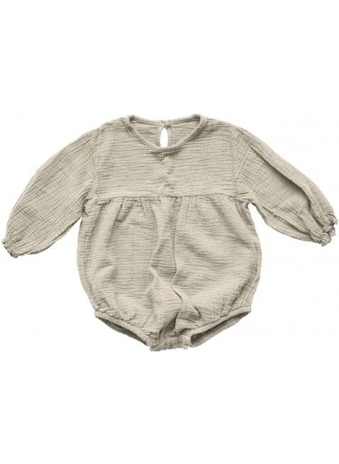 The Simple Folk Baby-Romper Musselin Meadow Ecru
