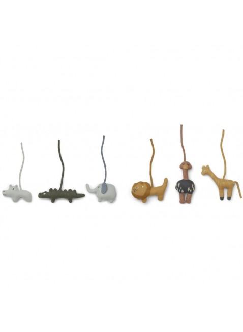 Liewood Activity-Spielzeug Gym Helmut Safari Mix 6er-Pack - Kleine Fabriek