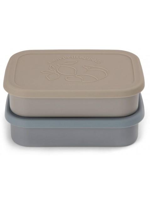 Konges Sløjd Edelstahl Lunchbox Frühstücksbox Set Blau