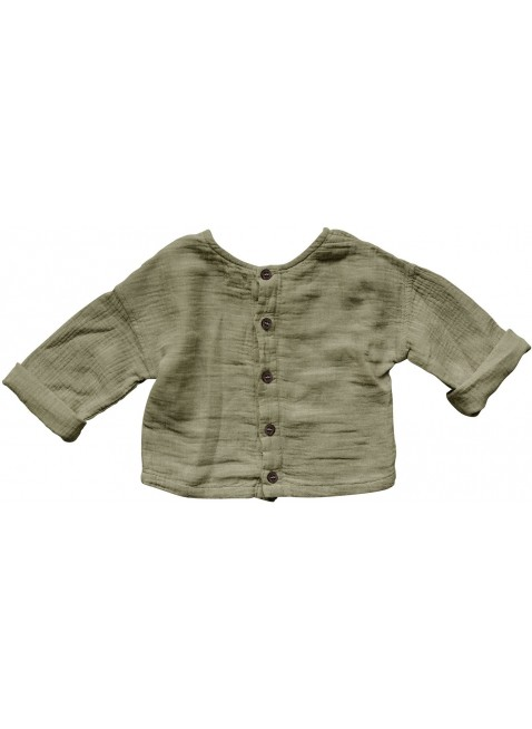 The Simple Folk Baby-Shirt Musselin Button Back Sage