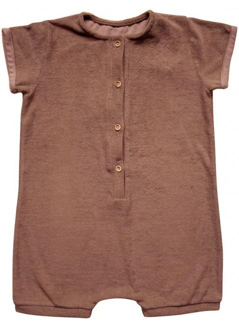 The Simple Folk Kurzarm Baby-Overall Frottee Cinnamon