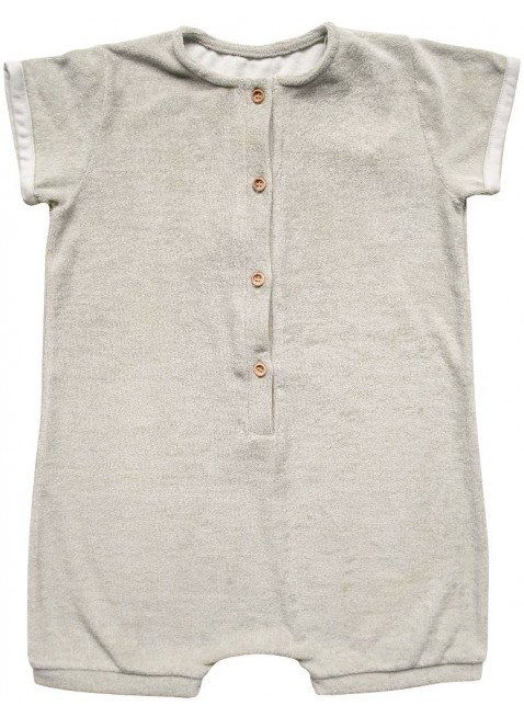 The Simple Folk Kurzarm Baby-Overall Frottee Ecru