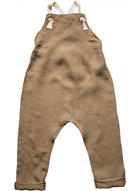 The Simple Folk Baby-Latzhose Leinen Camel