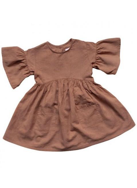 The Simple Folk Baby-Kleid Sage Cinnamon