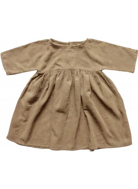 The Simple Folk Baby-Kleid Musselin Camel