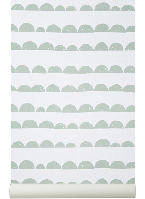 Ferm Living Tapete Half Moon Mint