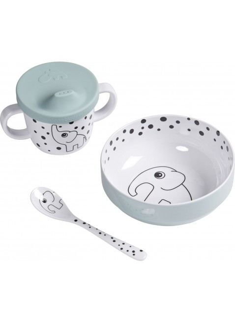 Kinder Geschirr-Set First Meal Happy Dots Blau von Done by Deer kaufen - Kleine Fabriek