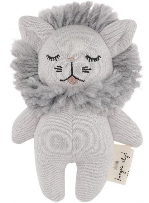 Konges Sløjd Mini Löwe Babyspielzeug Grau Melange - Kleine Fabriek