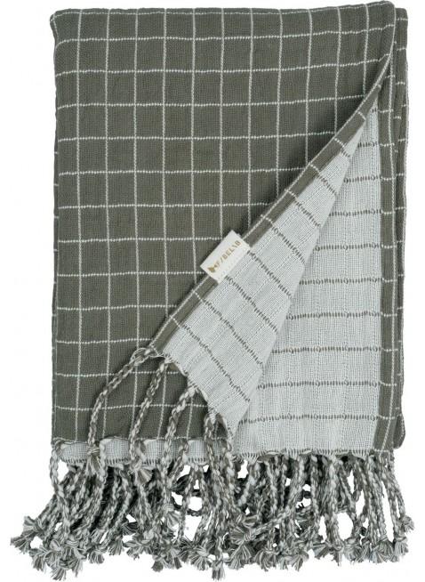 Fabelab Baby-Decke Grid Olive