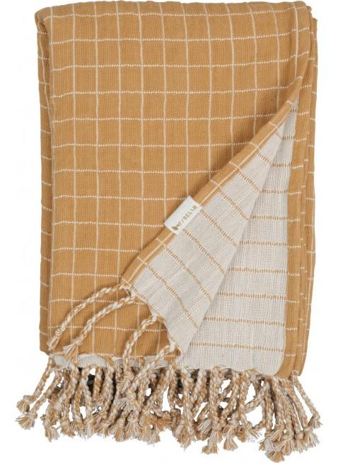 Fabelab Baby-Decke Grid Ochre