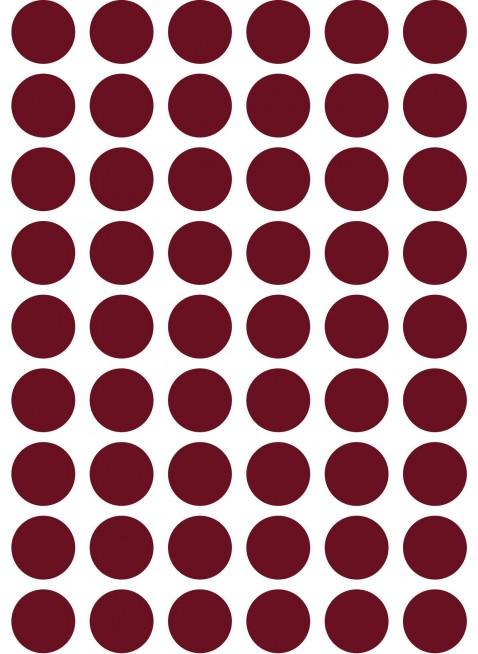 Ferm Living Wand-Sticker Mini Dots Rot - Kleine Fabriek