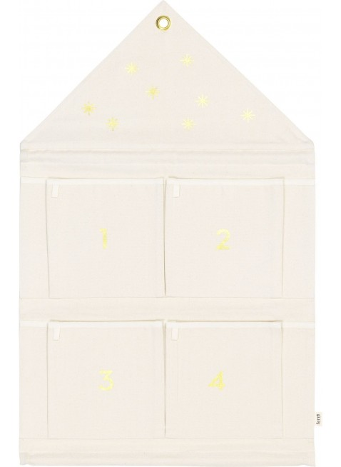 Ferm Living Stoff-Adventskalender Haus Off-White - Kleine Fabriek