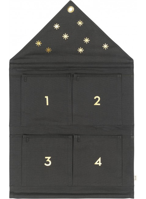 Ferm Living Stoff-Adventskalender Haus Dark Green - Kleine Fabriek