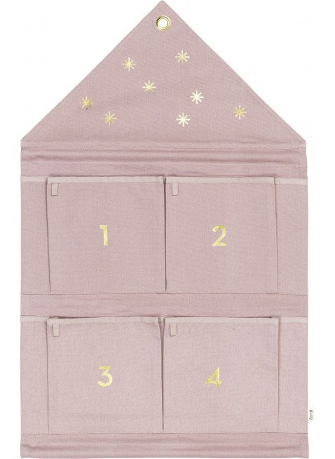 Ferm Living Stoff-Adventskalender Haus Rose - Kleine Fabriek