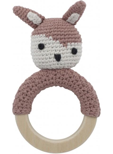 Sebra Häkel-Rassel Kaninchen Pink - Kleine Fabriek