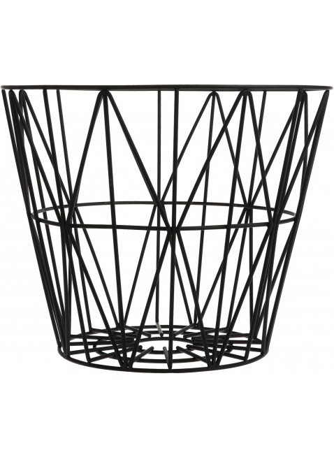 Ferm Living Wire Basket Schwarz L