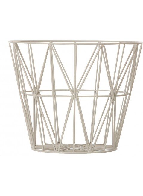 Ferm Living Wire Basket Grau L