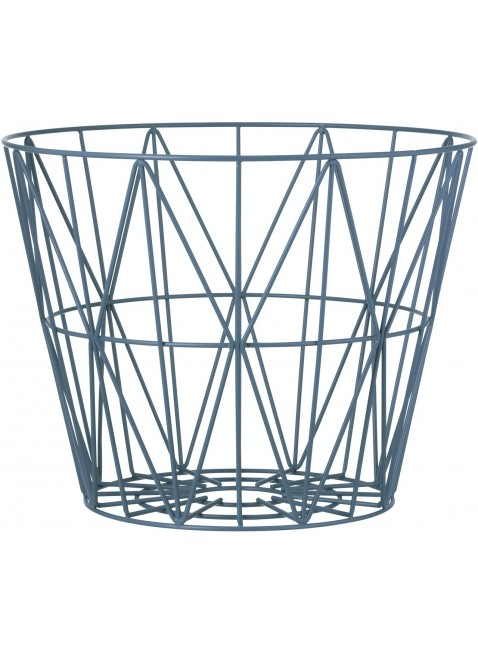Ferm Living Wire Basket Petrol L