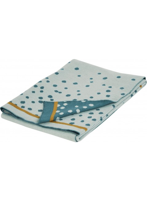 Done by Deer Baby-Decke Happy Dots Blau - Kleine Fabriek