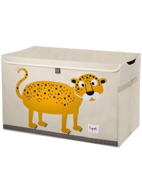 3 Sprouts Spielzeug Kiste Leopard