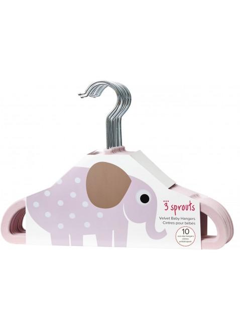 3 Sprouts Kinder-Kleiderbügel Samt Elefant 10er-Set - Kleine Fabriek