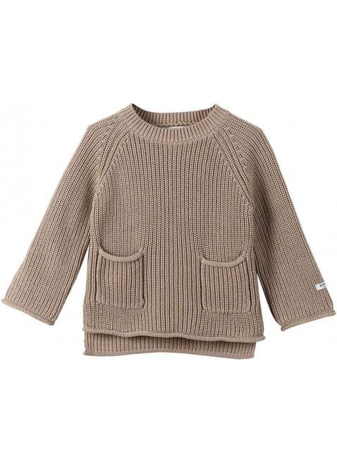 Donsje Baby-Pullover Stella Light Taupe kaufen - Kleine Fabriek
