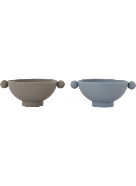 OYOY Silikon Schüssel Set Tiny Inka Blau - Grau kaufen - Kleine Fabriek