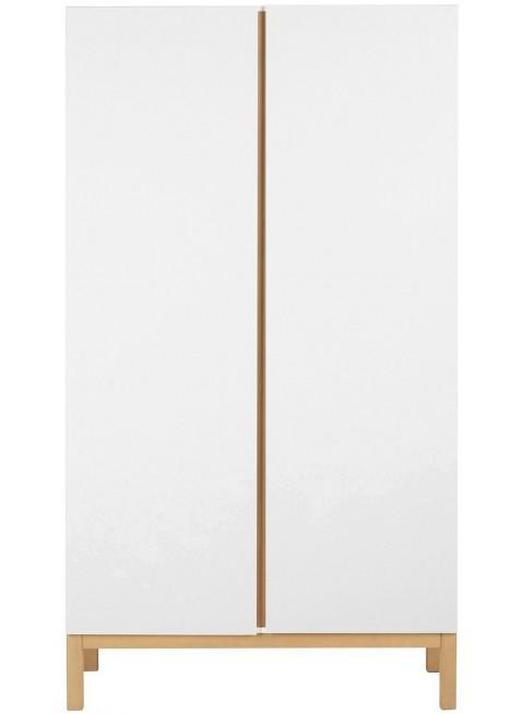 Quax 2-türiger Kleiderschrank Indigo Weiß kaufen - Kleine Fabriek