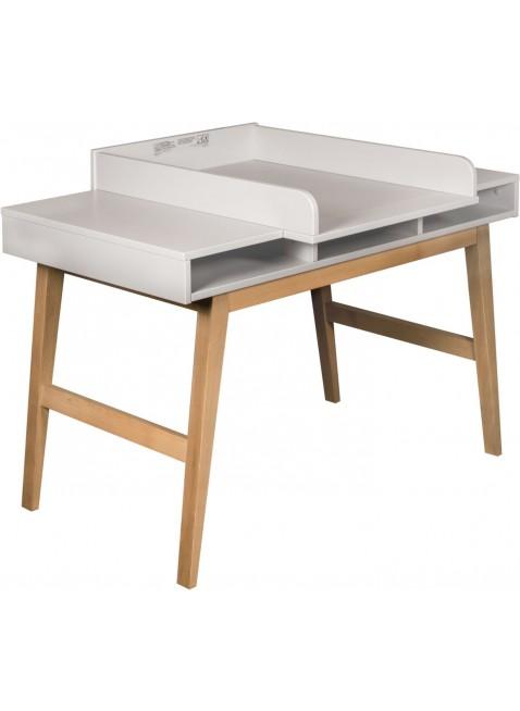 Quax Schreibtisch inkl. Wickelaufsatz Trendy Weiß kaufen - Kleine Fabriek