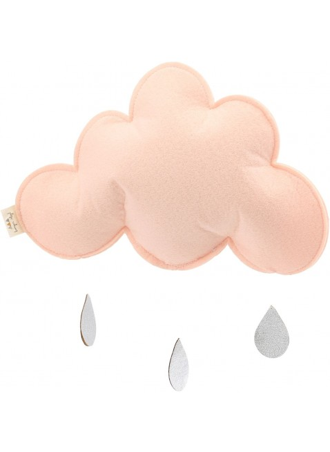 Konges Sløjd Mobile Wolke Single Rain Pink - Kleine Fabriek