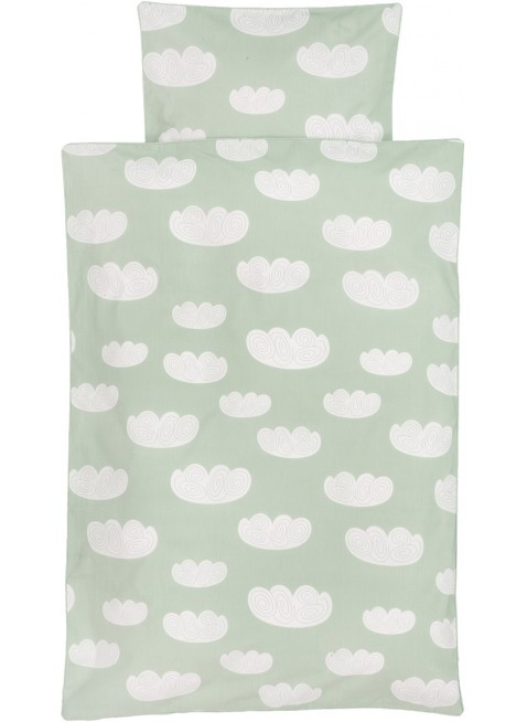 Ferm Living Baby-Bettwäsche 70x100 cm Cloud Mint
