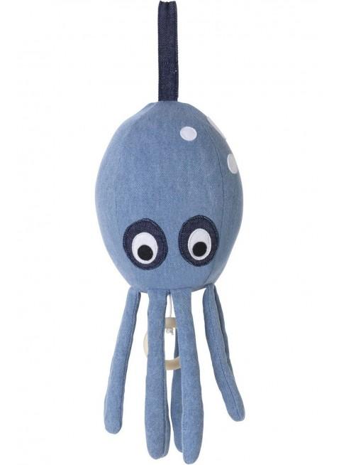 Ferm Living Spieluhr Octopus Denim - Kleine Fabriek