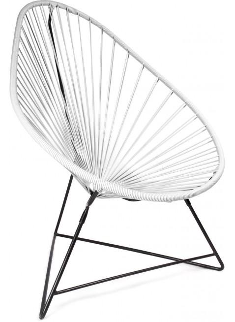 Boqa Acapulco Chair Design-Sessel Schwarz/Weiß - Kleine Fabriek