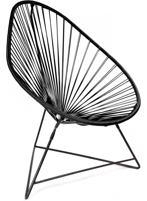 Boqa Acapulco Chair Design-Sessel Schwarz/Schwarz - Kleine Fabriek