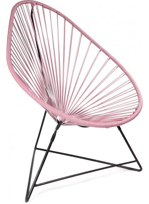 Boqa Acapulco Chair Design-Sessel Schwarz/Rosa - Kleine Fabriek