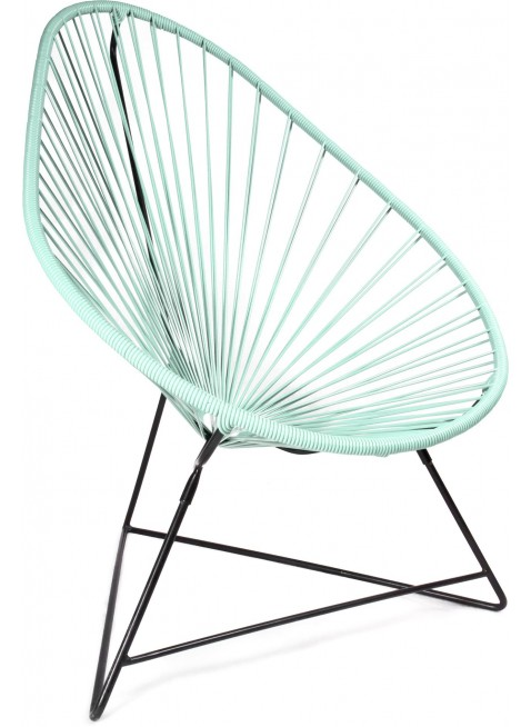 Boqa Acapulco Chair Design-Sessel Schwarz/Mint - Kleine Fabriek