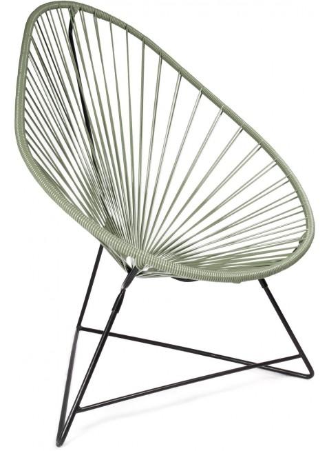 Boqa Acapulco Chair Design-Sessel Schwarz/Olivgrün - Kleine Fabriek