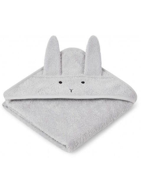Liewood Baby Kapuzenbadetuch Albert Hase Dumbo Grey - Kleine Fabriek