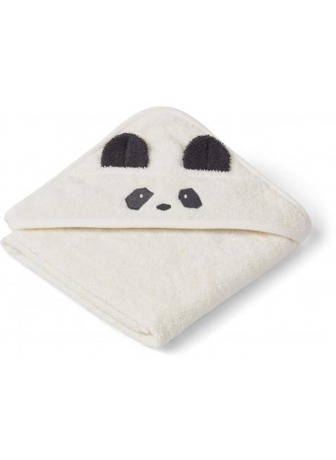 Liewood Baby Kapuzenbadetuch Albert Panda Creme de la Creme - Kleine Fabriek