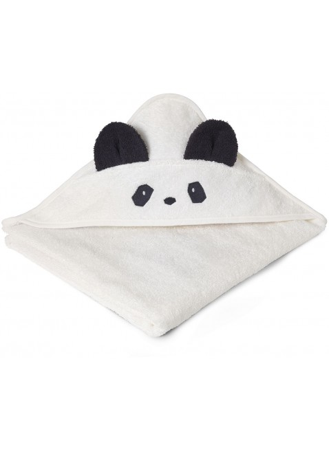 Liewood Kapuzenbadetuch Augusta Panda Creme de la Creme - Kleine Fabriek