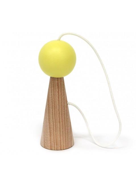 Nobodinoz Bilboquet Geschicklichkeitsspiel Gelb - Kleine Fabriek