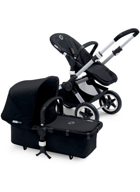 Bugaboo Buffalo Kinderwagen Set Silber / black