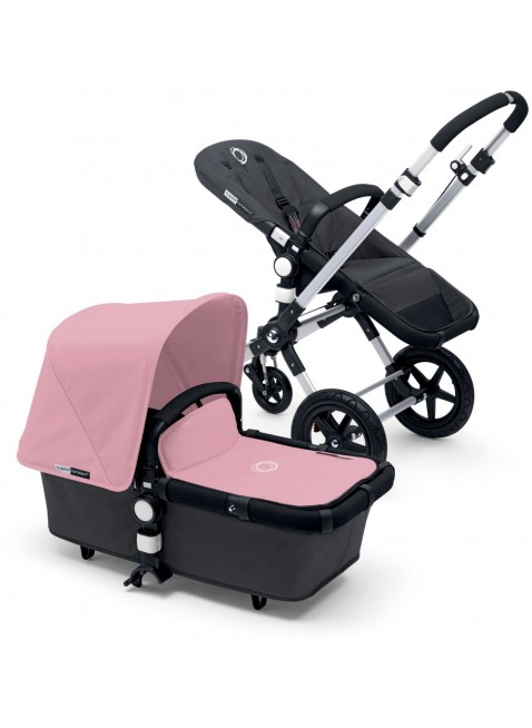 Bugaboo Cameleon 3 Kinderwagen Set Silber / dark grey soft pink