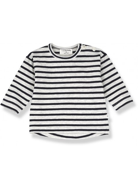 1+ in the family Baby-Shirt Langarm Cannet Sailor Stripes Blue Notte