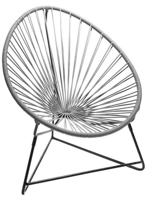Boqa Acapulco Chair Chiquita Kinderstuhl Schwarz/Grau - Kleine Fabriek