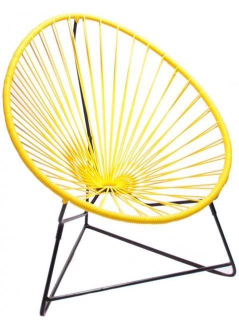 Boqa Acapulco Chair Chiquita Kinderstuhl Schwarz/Gelb - Kleine Fabriek
